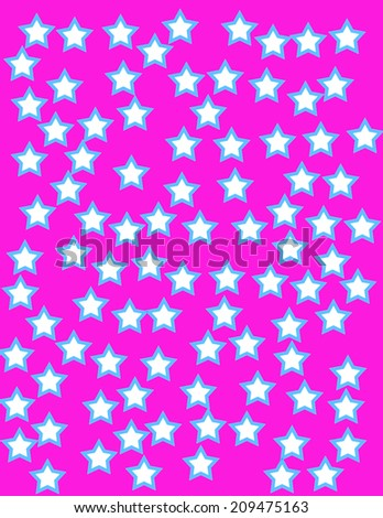 A colorful abstract 1990's flat style star shape background  - stock photo