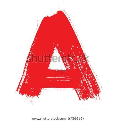 A - Colorful alphabet isolated over the white background - stock photo