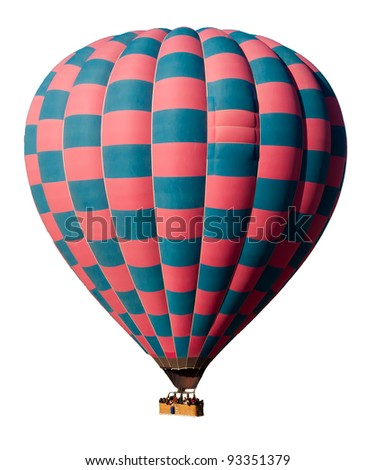 A colorful and beautiful hot balloon - stock photo