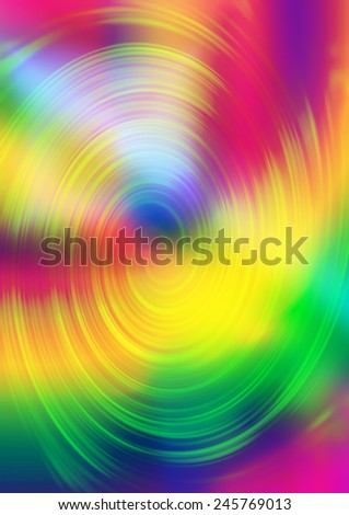 A colorful tie dye psychedelic spiral background image. - stock photo