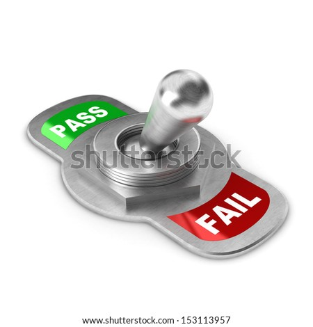 A Colourful 3d Rendered Fail Concept Switch Illustration - stock photo