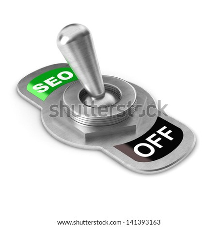 A Colourful 3d Rendered SEO Switch Concept Illustration - stock photo
