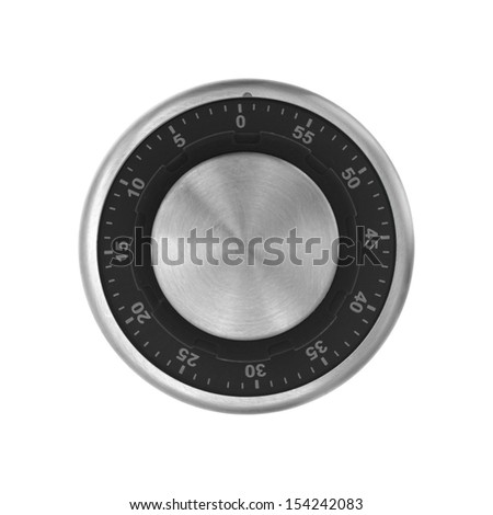 A combination dial isolated against a white background - stock photo
