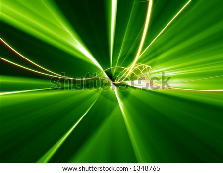A computer generated high-end industrial visual light effects, suitable for backgrounds, or generic graphic design use. - stock photo