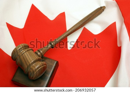 A concept based on the Canadian legal system. - stock photo