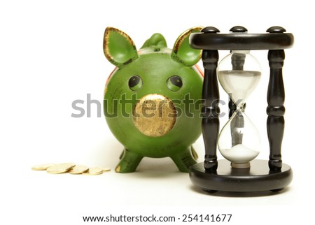 A concept based on time and money management. - stock photo