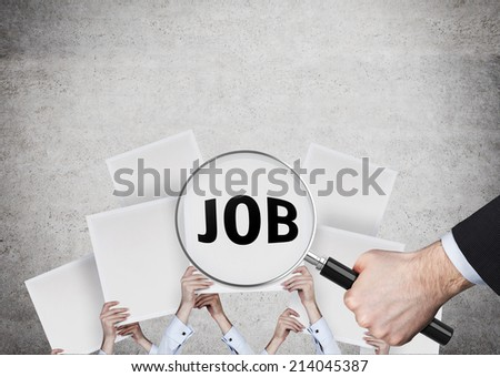 A concept of hiring employees. - stock photo