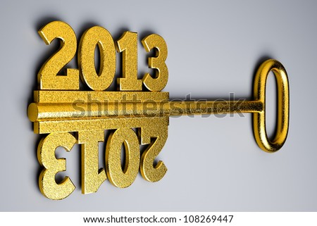 a 2013 concept on grey - stock photo