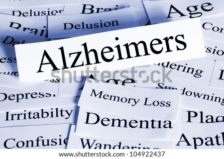 A conceptual look at Alzheimers disease, and some of the problems it brings. - stock photo