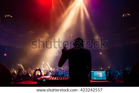 A concert at Webster Hall, NYC - stock photo