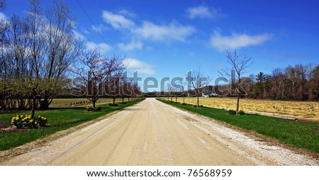 A Country Road - stock photo