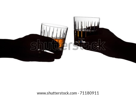 A couple holding drinks - stock photo