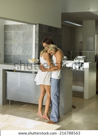 A couple hugging. - stock photo