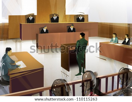 A court - stock photo