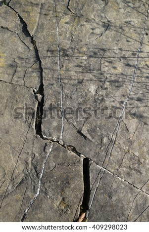 A crack in the stone - stock photo