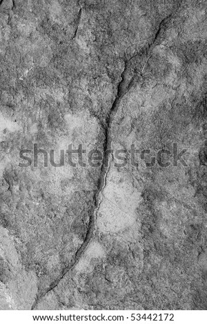 A crack in the wall, background, useful for concepts such as Economic Collapse, Financial Crash, Crisis, Break - stock photo