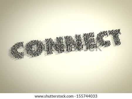 A crowd of people form the word 'Connect'. Symbolic of a connection either via technology, social media / networks, business networks or relationships. - stock photo