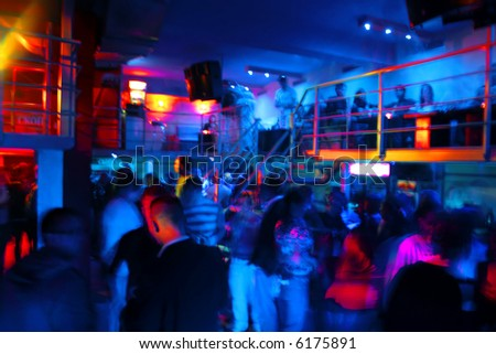 A crowded club - stock photo