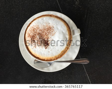 a cup of  cappuccino - stock photo