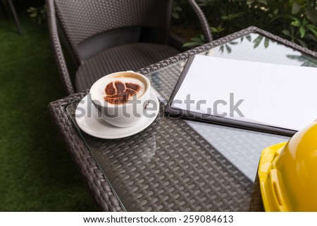 A Cup of Coffee and Business - stock photo