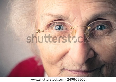 A cute grandma - stock photo