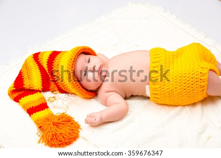 A cute newborn little baby girl. Use it for a child, parenting or love concept. - stock photo