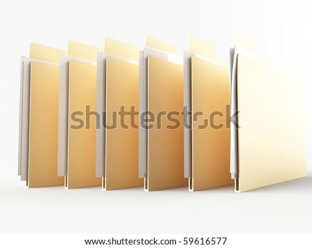 a 3d folder on a white ground - stock photo