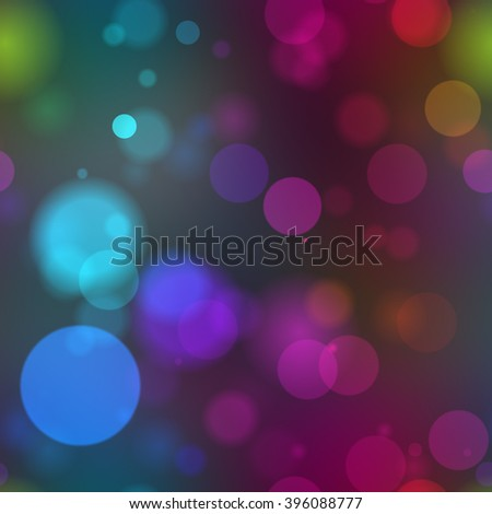 A 3d illustrated background of rainbow bokeh light blurs. - stock photo