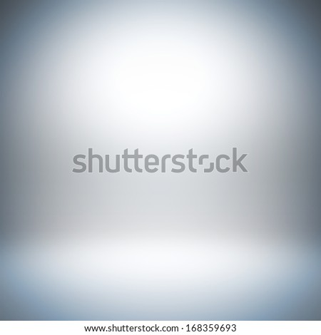 A 3d illustration blank template layout of empty white background with light bright at wall and floor for insert anything. - stock photo