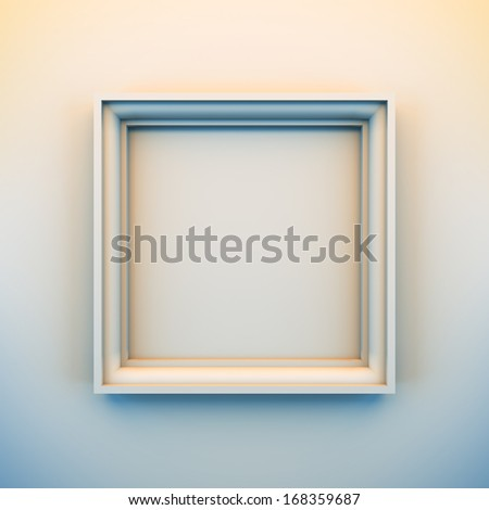A 3d illustration blank template layout of empty white frame for insert picture, photo or text. - stock photo