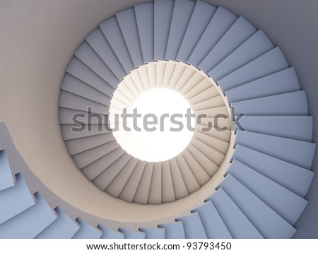 A 3d illustration of stair to the future. Background. - stock photo