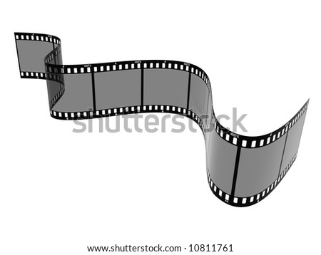 A 3D image of a film strip - stock photo