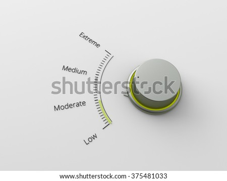 A 3d made metal switch on a carbon background - stock photo