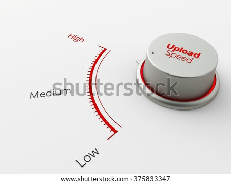 A 3d made metal switch on a white background - stock photo