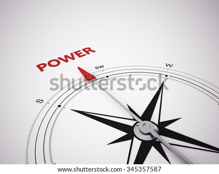 a 3d maded compass on a white screen - stock photo