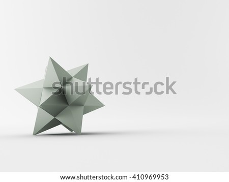 a 3d maded star on a grey background - stock photo