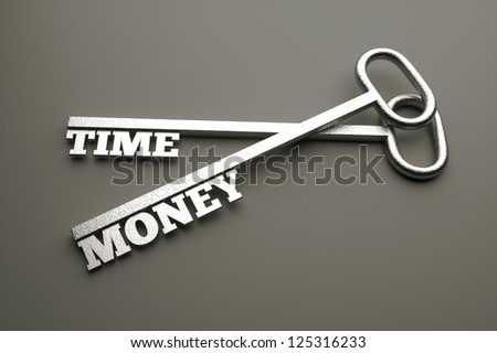 a 3d render of keys with words, creative idea - stock photo