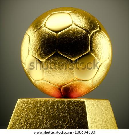 a 3d render of metal soccer ball - stock photo