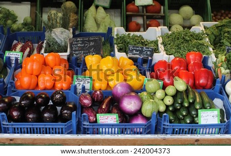 A day at the market in Munich - stock photo