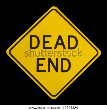 a dead end street sign - stock photo