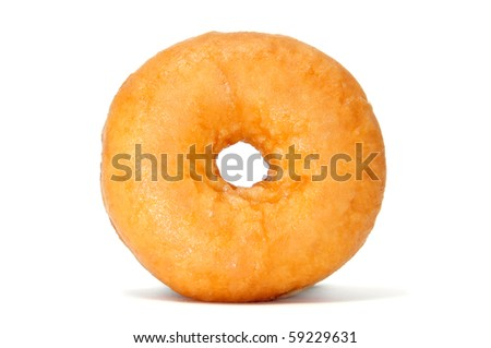 a delicious donuts isolated on a white background - stock photo