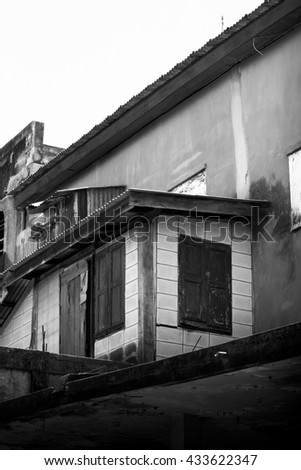 A derelict old house in Thailand - stock photo
