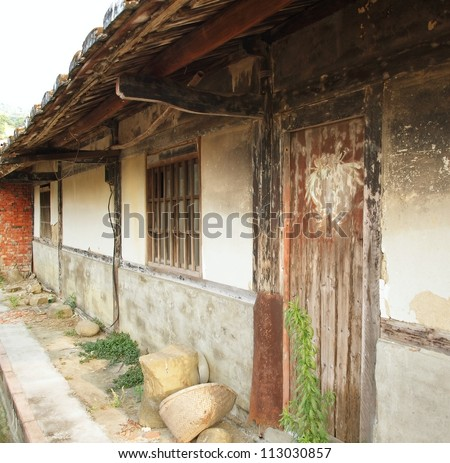 A deserted Chinese farmhouse in southern Taiwan - stock photo