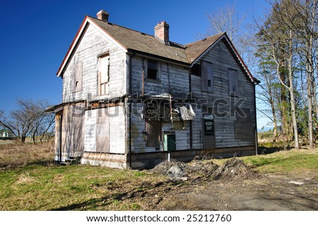 A deserted house - stock photo