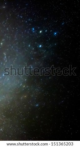 A detail view of the night sky in Malta during the 2013 Perseid showers - stock photo