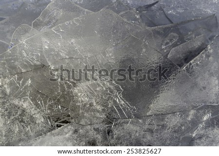 A detailed shot of ice with nice texture - stock photo