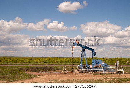 A device used for oil exploration in Texas - stock photo