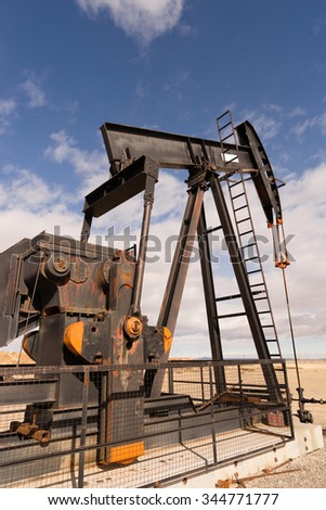 A device used for oil exploration in Wyoming - stock photo