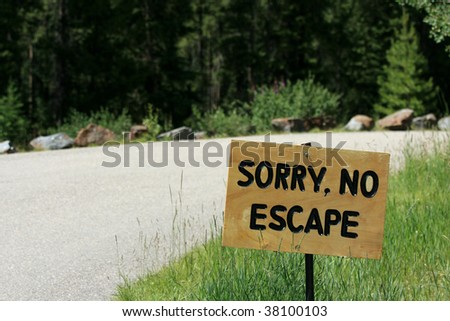 A different kind of 'do not enter' sign. Alberta. Canada. - stock photo