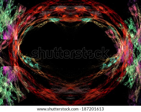A digitally generated background fractal.  - stock photo
